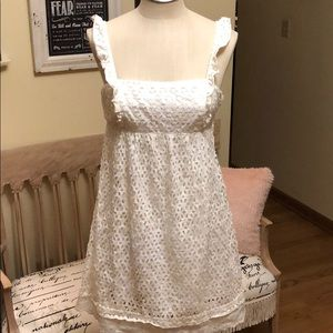 Mimi Maternity 100% Cotton Eyelet & Lace Dress
